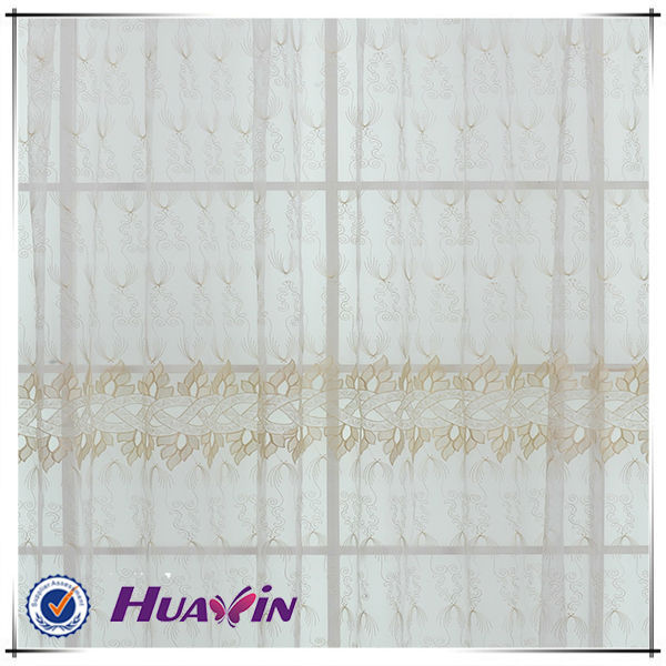 embroidery lace curtain fabric,wave design curtain fabric,leaf design curtain fabric