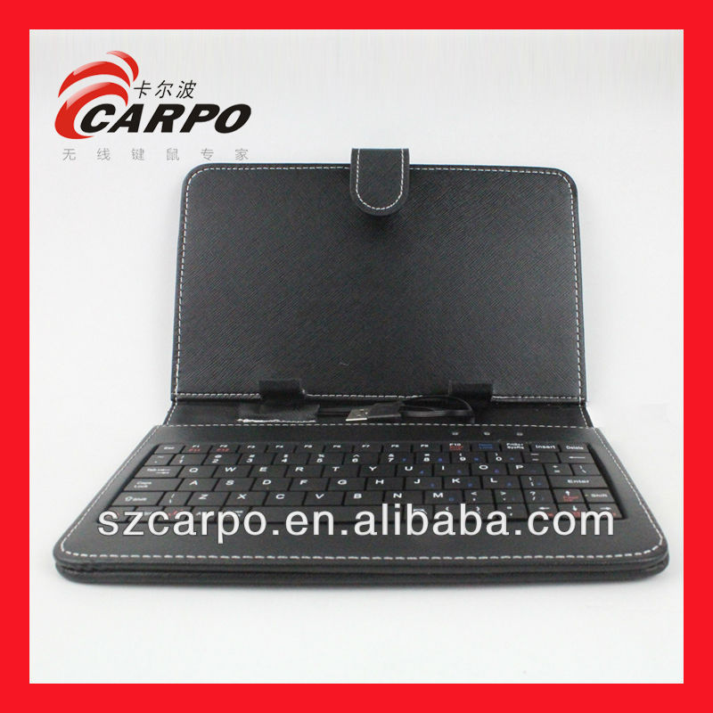 9.7 tablet pc leather case bluetooth keyboard LK-606