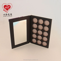 eco friendly paper cardboard eyeshadow palette for 26mm tins/Eyeshadow packet packaging/Empty eyeshadow palette with custom logo