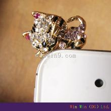 Alloy Pony anti dust Plug for cell phone accessories