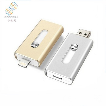 Good quality push and pull dual interface otg 8gb 16gb usb flash drive for mobile phone/android /pc