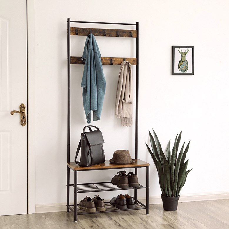 Major Furniture <strong>Manufacturers</strong> Metal Wooden Vintage Coat Rack Entryway Bench And Coat Hanger