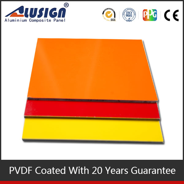 Alusign colorful PVDF aluminum composite panel for advertising board