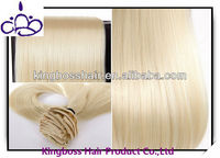 wholesale price blonde color clip in human hair extensions on sale