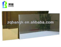 Mirror coating acp for curtain wall decoration gallery coats