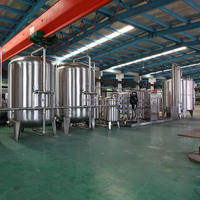 Filter plant for drinking or mineral water