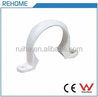SCH40 PVC Pipe Clip Plastic Saddle Clamp for Water Tube ASTM D1785