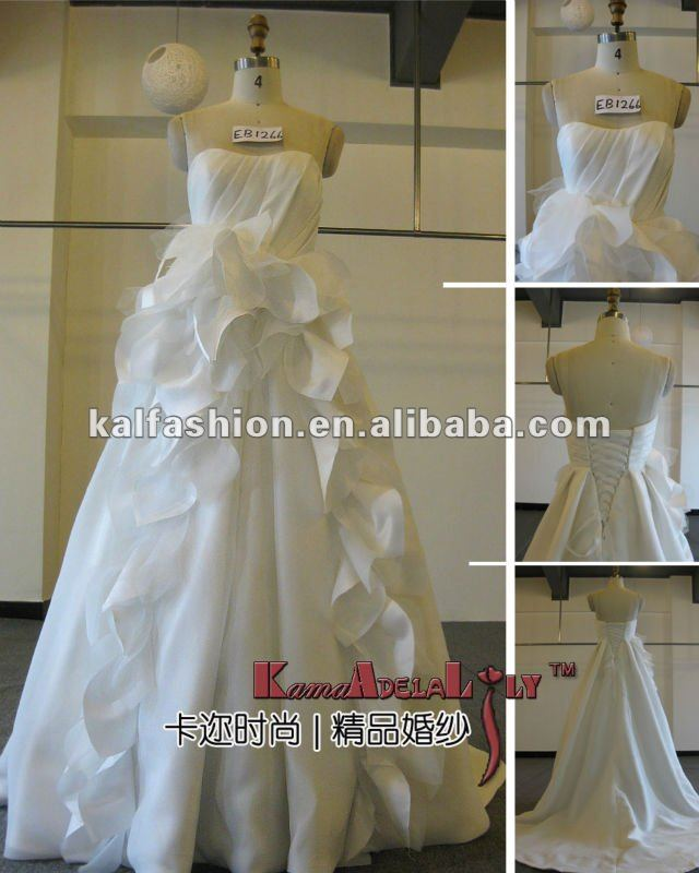 EB1266 Fashional beautiful white beading wedding dress