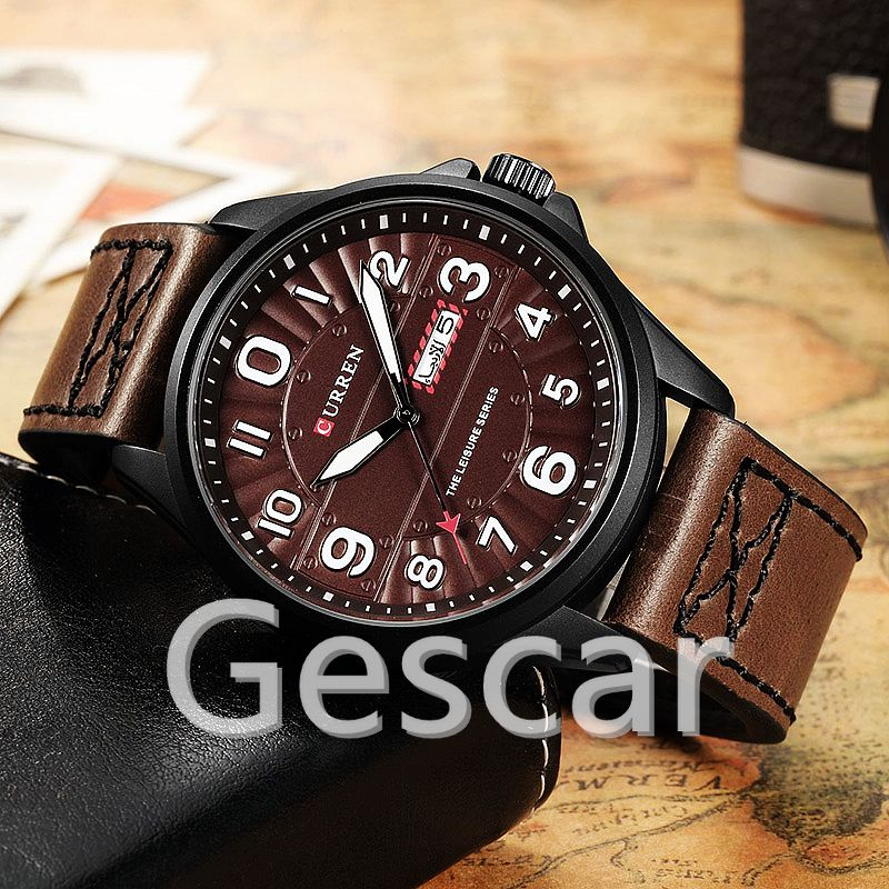 CURREN 8269 Men Wrist Watch Man Top Brand Luxury Sports Male Watches Leather Army Military Mens Wristwatch Relojes Hombre
