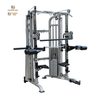 smith machine with weight stack