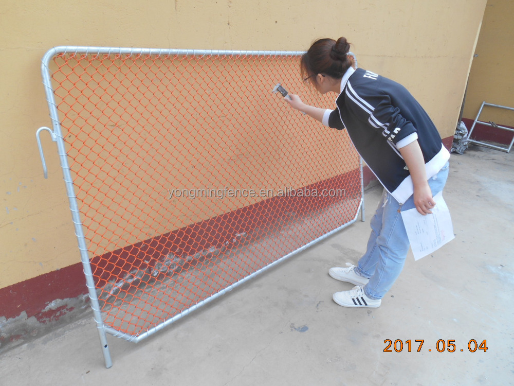 China Orange Construction Chain Link Fence Panel