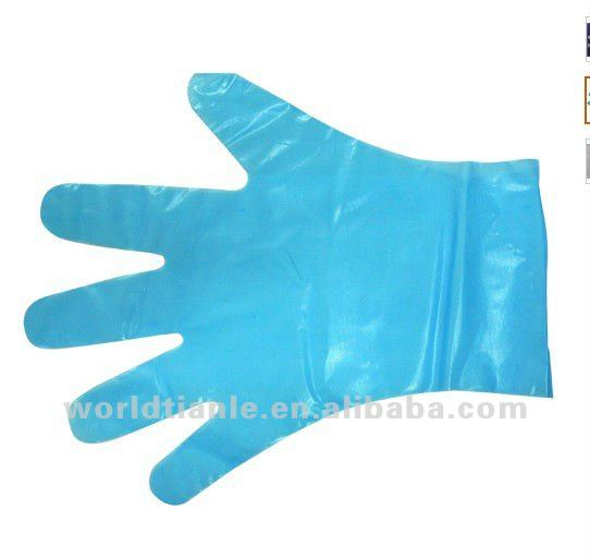 good quality disposable plastic CPE glove for food preparing