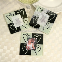 Wedding Favors Baby Shower Gifts Heart Drawing Design Photo Glass Coaster