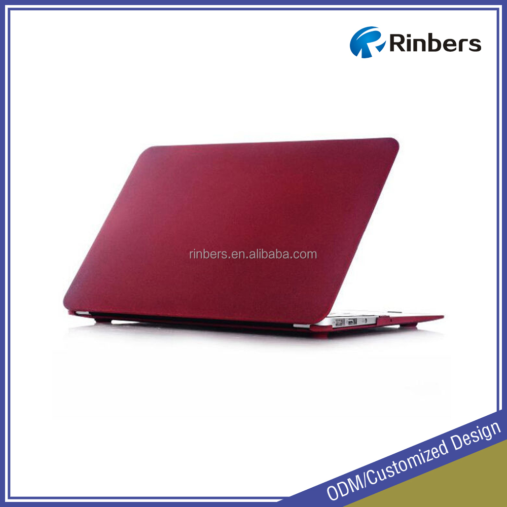 Quicksand Red/Pink/Green Protective Hard Shell Plastic Laptop Case for MacBook Air 11.6 13.3 Pro Retina 13 15 Cover Factory