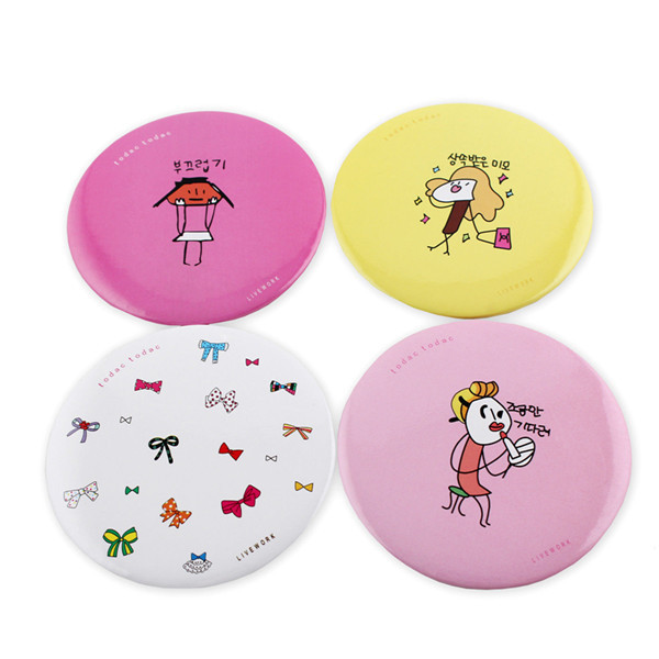 Hand Mini Small Pocket Round Makeup Mirror