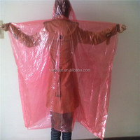 Cheap Disposable PE Rain Poncho Pe