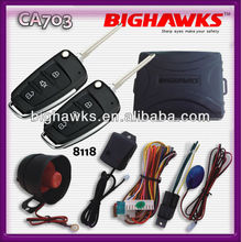 car alarm tracking systems BIGHAWKS CA703-8118 vw auto security flick key A6L flip case