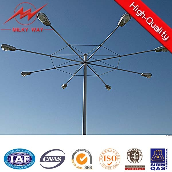 25m-50m high mast lighting with solar led or hps lighting