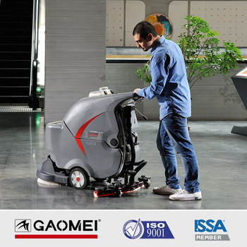 GM50 Large brush walk behind automatic floor scrubber with battery