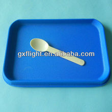 Small Ivory plastic salad mixing spoon