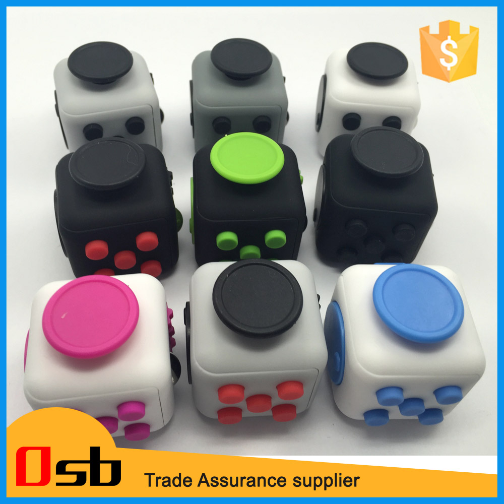 magic fidget cube toys for antistress dice relieves anxiety stress focus anti-irritability cube, anti stress cube
