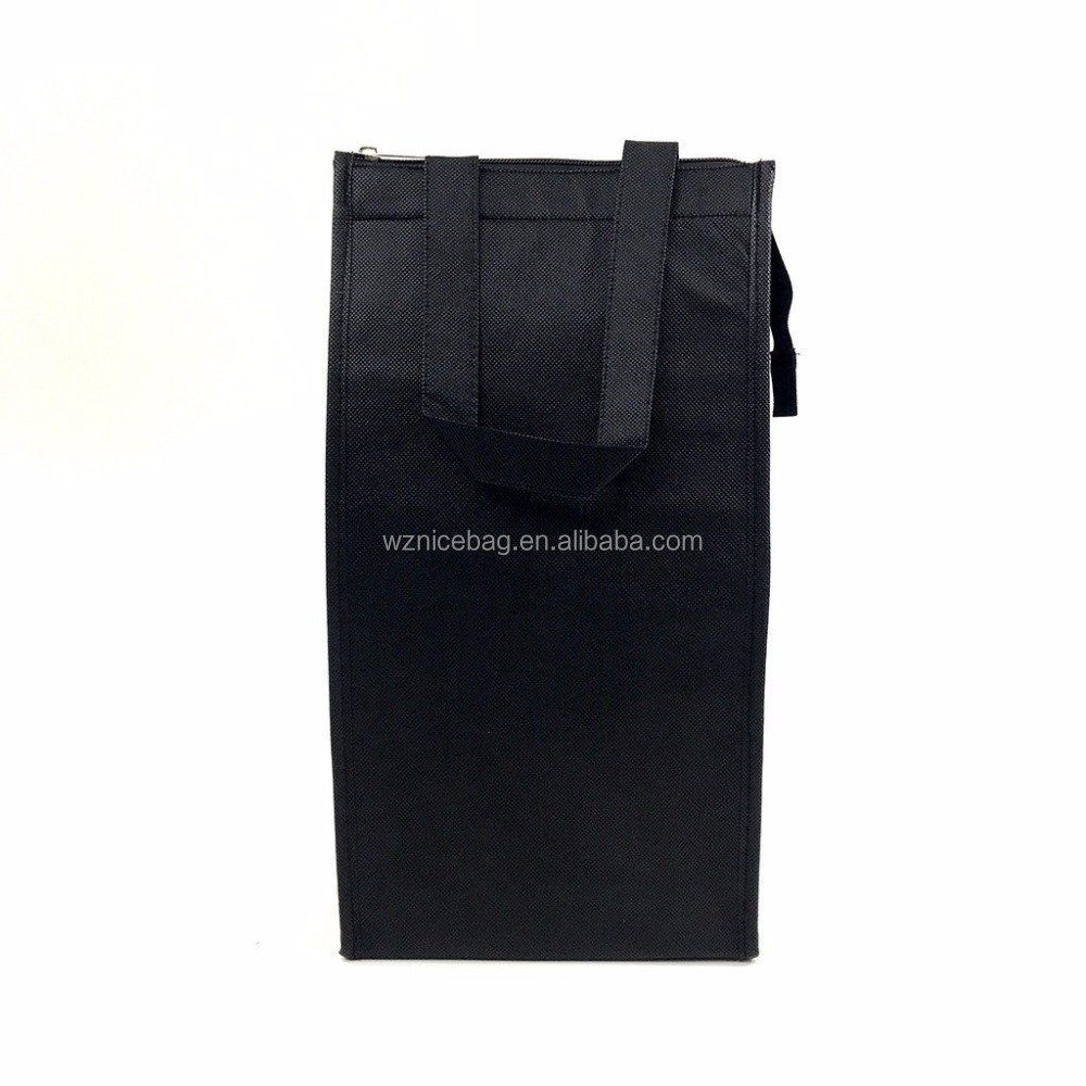 Alibaba China economy tote nonwoven thermal wine bottle cooler bag