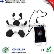 new portable stereo football shape speaker for iphone ipod SAMSUNG
