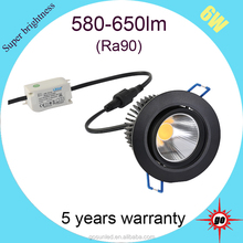 6w China hot sale COB LED ceiling light with CE ROHS certificate downlight