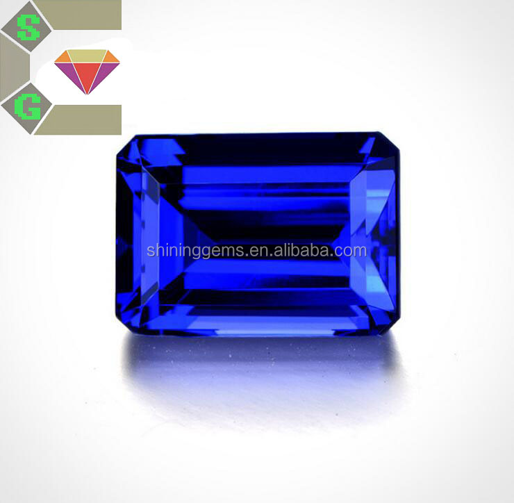 excellent quality tanzanite octagon cut loose cz stone for jewelry making