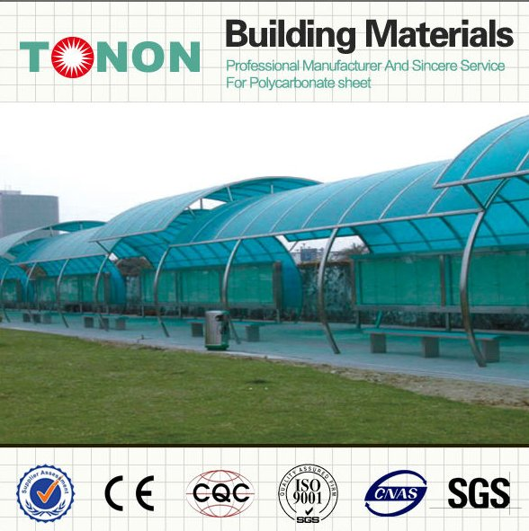coloring sheet roofing polycarbonate used bus station for sale