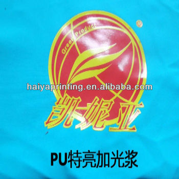 bright effect printing pu glossy gel for swimsuit