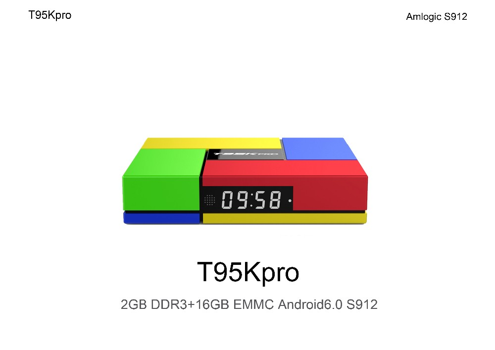 New coming T95K PRO 2GB 16GB Amlogic S912 Octa Core Andorid 6.0 TV BOX Media Player