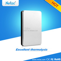 Silver metal design Netac external hard drive 500GB