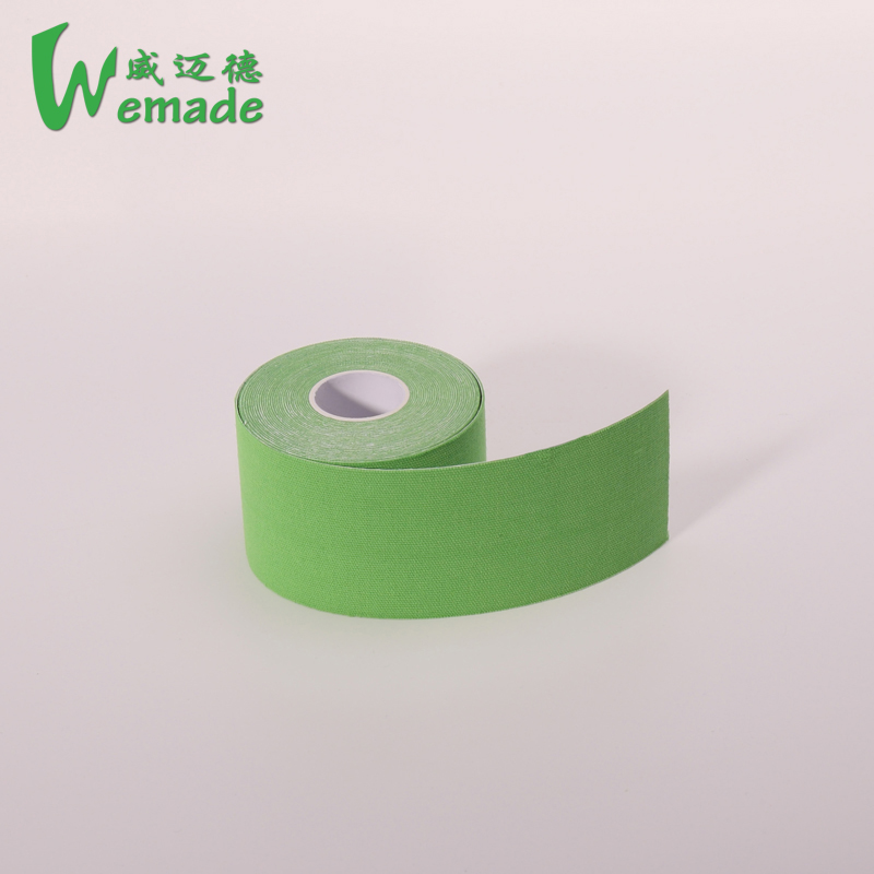 Delicate colors China Supplier Medical Athletes Care Adhesive Colored Sport Precut Kinesiology Tape