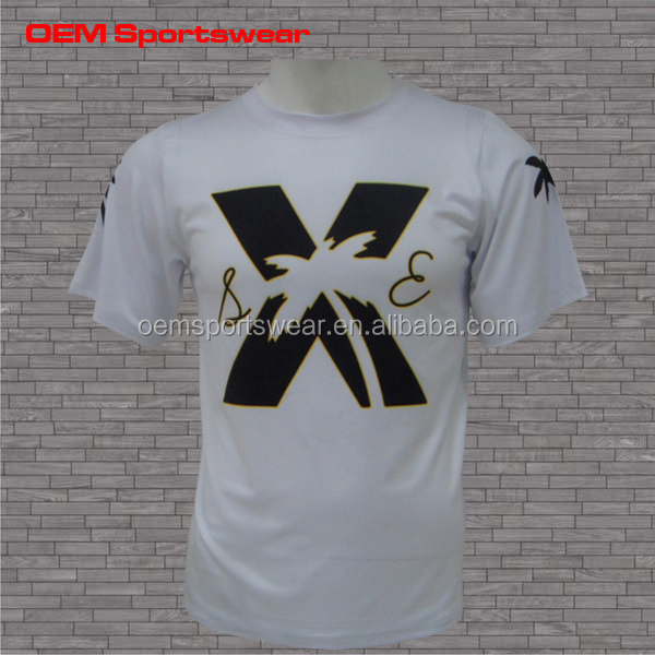 100% polyester sublimation custom new model white t shirt