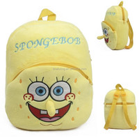 Fashion! Yellow cartoon school bag cheap backpacks with wheels backpack child