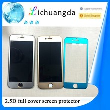 2015 New product color 3D Titanium alloy tempered glass screen protector saver for iPhone6 & iphone6 plus