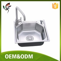 Home Deco Public Place Bar Park Kitchen Bathroom Durable Stainless Steel Sink #4640