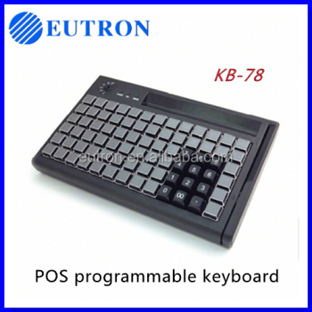 waterproof MSR programmable POS keylock keyboard