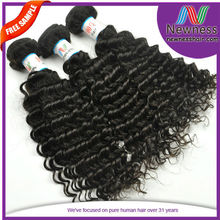 10A Brazilian Unproccessed Virgin Remy Wholesale Deep Wave Human Hair Extension Suppliers China