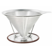 Pour over stainless steel coffee filter dripper