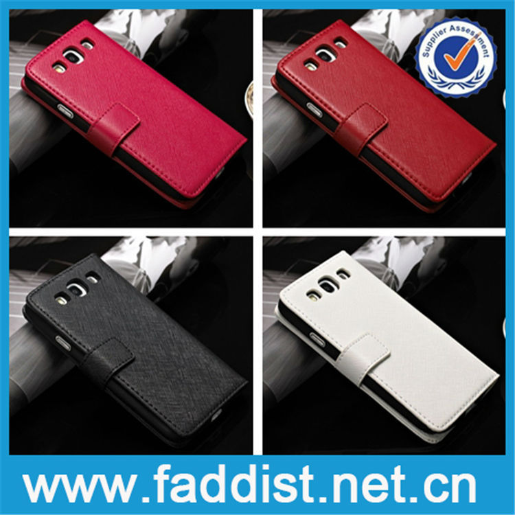China Wholesale Genuine leather wallet flip case for samsung galaxy s3