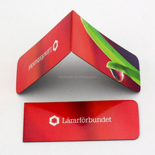 Custom made folding magnetic bookmark / full color printing paper bookmark
