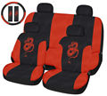 Dragon Red 11-piece Automotive Seat Cover Set