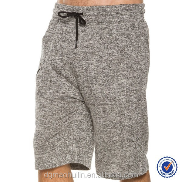 huilin apparel cheap wholesale blank mma shorts wholesale french terry shorts mens cotton shorts