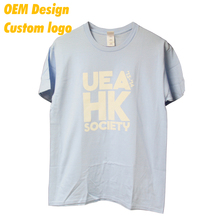 Tailor made Fashionable Screen Printing adult Round NeckShort Sleeves Tee Shirt