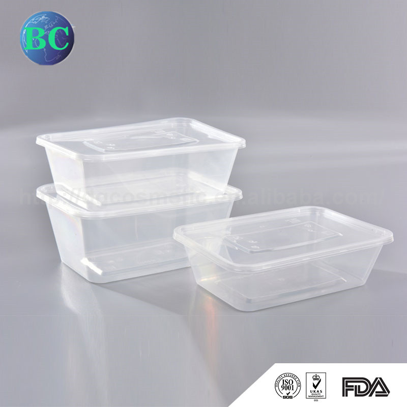 Most Popular New Design Disposable Plastic Heat Resistant Takeaway Food Container Box