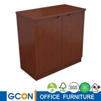 two doors wood movable office storage cabinet