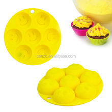 smile face silicone cake mold/silicone lace molds for cake decorating