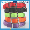 Plain classic nylon dog collar with metal buckle dog collar